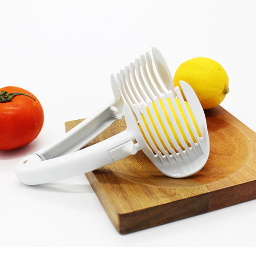 Multifunctional Handheld Tomato Slicer Holder Fruit Vegetable Round Cutter