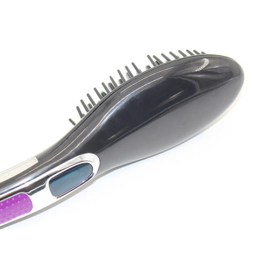 Economical design hair straightener brush with display screen