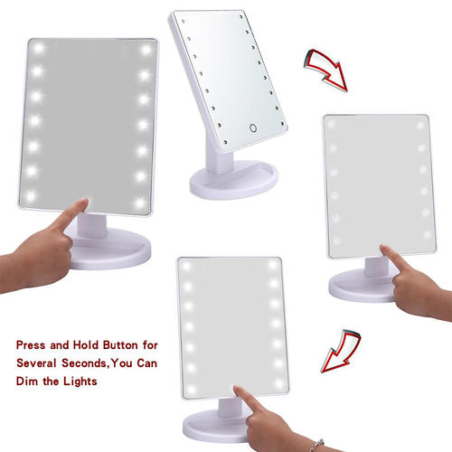 Smart touch LED Makeup Mirror-16 LED Lighted Makeup Mirror Large led mirror