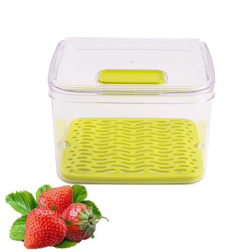 Vegetable keeper food storage container with lid