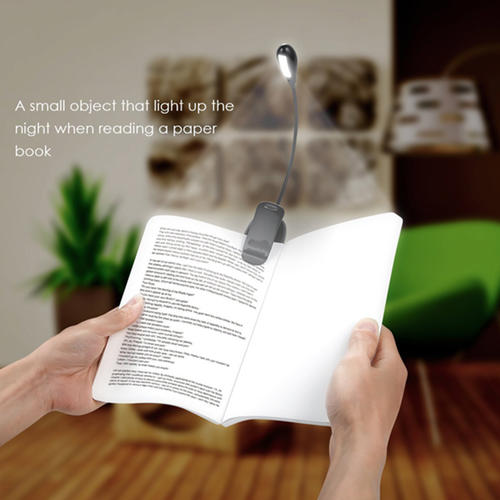 Rechargeable 4 LED Book Light Clip On LED Reading Lamp