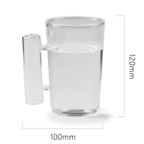 Glass Tea and Coffee Cup with a Handle,Glass Washing Cup, Tooth Cup
