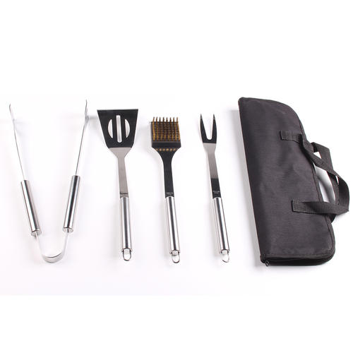 4 Piece Stainless Steel BBQ Grill Tools Set Barbecue Accessories