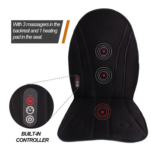 Electronic Heated Seat Cushion Massager With Therapeutic Vibration